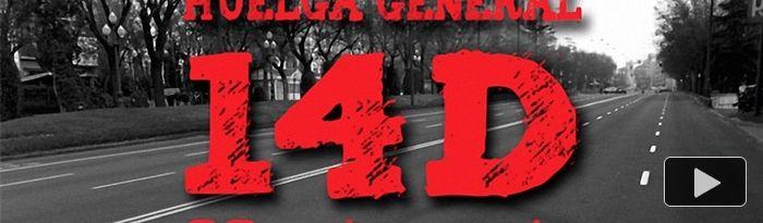 Huelga general 14 D - 1988-2018 - 30  Aniversario