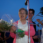 Pilar Jiménez, una de las socias homenajeadas durante las Fiestas del Barrio Sepulcro-Bolera.
