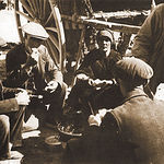 """Una familia acampa en """"La Cuerda"""" en los primeros años del siglo XX."""