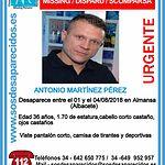 Antonio Martinez Perez, desaparecido.