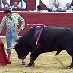 Enrique Ponce en un pase de muleta en su primer toro.