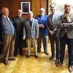 Vicente Ruco con académicos de la Academia de Gastronomía de CLM en la provincia de Albacete.