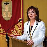 Carmen Oliver ha sustituido a Manuel Pérez Castell al frente del ayuntamiento de Albacete. Foto: Toma de posesión.