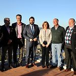 Paco Núñez en la reunión de trabajo que ha mantenido con los senadores del PP de Catilla-La Mancha.