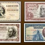 La peseta de papel empezó a imprimirse durante la guerra civil debido a la carestía de los metales.