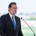 Mariano Rajoy durante su visita a Albacete para la presentación de uno de los tramos de autovía que unirá la ciudad con Jaén