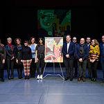 Presentación del cartel de la Feria de Albacete 2020, realizado por Celia Navalón. Foto: Manuel Lozano García / La Cerca