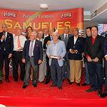 Foto de grupo del Jurado de los Premios Taurinos Samueles, en la Gala de Entrega de los X Premios Taurinos Samueles, pertenecientes a la Feria Taurina de Albacete 2015