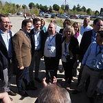 Llegada de Pablo Casado al XIV Congreso del PP de Castilla-La Mancha.