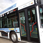 Autobús público movido por hidrógeno utilizado por la Comunidad de Madrid.