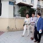 Manuel Serrano visita Paseo de Simón Abril.