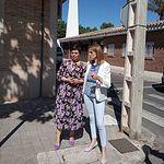 Cristina Maestre mantiene un encuentro sobre los fondos Edusi, junto a la candidata a la Alcaldía de ciudad Real, Pilar Zamora.