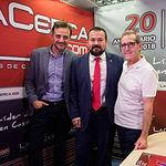 Juan Ramón Amores, director general de Juventud y Deporte en funciones de la JCCM, junto a Jesús Perea y Antonio Delgado