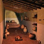 Reconstrucción virtual de una casa almacén ibérica.
