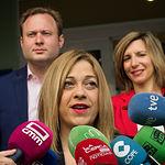 Carmen Picazo, candidata a la presidencia de la JCCM por Ciudadanos, ejerce su derecho al voto en las Elecciones Europeas, Autonómicas y Municipales del 26M de 2019