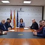 Patricia Franco recibe en la Consejería a miembros de la junta directiva de la Academia de Gastronomía de Castilla-La Mancha.