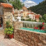 Imagen pintoresca de Bogarra desde la Fuente de la localidad.