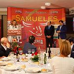 Isabel Flores, hija del ganadero Samuel Flores, en la Gala de Entrega de los X Premios Taurinos Samueles, pertenecientes a la Feria Taurina de Albacete 2015