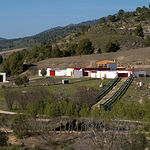 """Vista de la magnífica finca """"Las Ramblas"""", en el término de Elche de la Sierra (Albacete), propiedad de Daniel Martínez."""