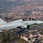 El Eurofighter 2000 será uno de los aviones que albergará la Base albaceteña.