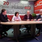 Juan Gabriel Murcia Gómez, vocal de promoción de la Hermandad de Donantes de Sangre de Albacete; Ángela López González, secretaria general de la Hermandad de Donantes de Sangre de Albacete; Jesús Igualada Pedraza, presidente de la Hermandad de Donantes de Sangre de Albacete; y Manuel Lozano Serna, director del Grupo Multimedia de Comunicación La Cerca