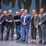 El presidente regional, Emiliano García-Page, participa en el acto de entrega del premio 'Abogados de Atocha', en el Teatro de Rojas de Toledo. (Fotos: A. Pérez Herrera // JCCM).