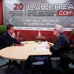 Santiago Cabañero Masip, cabeza de lista a las Cortes de Castilla-La Mancha por el PSOE en Albacete, junto a Manuel Lozano Serna, director del Grupo Multimedia de Comunicación La Cerca