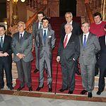 Trofeos Taurinos Feria de Albacete 2013 - Premiados y autoridades en la escalinata del Museo Municipal de Albacete.