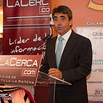Victorino Martín García, durante la IX edición de los Premios Taurinos Samueles, correspondientes a la Feria Taurina de Albacete del año 2014.