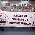 Caridad Aguilar, jubilada de Enfermería, Juani Martínez, jubilada de Enfermería, Esteban Ortiz, jubilado de Educación y Ramón Martínez, jubilado de Correos