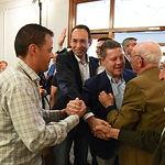 Acto público del presidente de Castilla-La Mancha y candidato socialista a la reelección, Emiliano García-Page, acompañado de Santiago García Aranda, alcalde de Villacañas, y Jaime Martínez, candidato socialista a la Alcaldía. (FOTOS: José Ramón Márquez/PSCMPSOE)