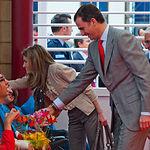 Sus Altezas Reales los Príncipes de Asturias durante su visita a España Original 2010.