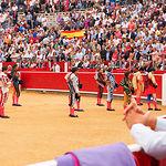 Paseillo en la plaza de toros de Albacete.