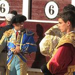Imagen de los novilleros durante la 3º del abono albaceteño.