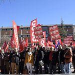 Concentración en Cuenca en defensa de pensiones dignas.