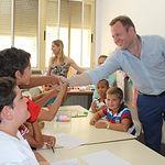 Visitan al comedor escolar del CEIP Cristóbal Valera.
