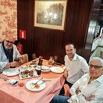 De izquierda a derecha: Ángel Ramírez Ludeña, Antonio Martínez Iniesta y Manuel Lozano Serna, Académicos de Número de la Academia Gastronomía CLM.