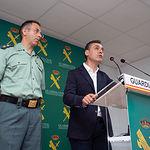 Jesús Manuel Rodrígo, teniente coronel jefe de la Comandancia de la Guardia Civil en Albacete, junto a Francisco Tierraseca, subdelegado del Gobierno en Albacete