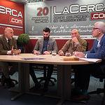 """Manuel Cortés Amador (Manuel """"de Paz""""), torero, Antón Cortés Vargas, torero, Sebastián Cortés Amador, torero, y Manuel Lozano Serna, director del Grupo Multimedia de Comunicación La Cerca."""