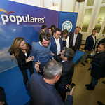 José María Aznar, expresidente del Gobierno, participó en un acto del Partido Popular en Albacete.