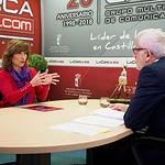 Yolanda Valdeolivas, Secretaria de Estado de Empleo, junto a Manuel Lozano, director General del Grupo Multimedia de Comunicación La Cerca.