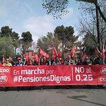 """Concentración por unas """"pensiones dignas"""" en Guadalajara"""