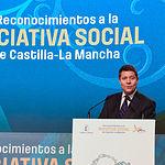 El presidente de Castilla-La Mancha, Emiliano García-Page, preside, en el Palacio de Congresos de Albacete, el acto de entrega de los Reconocimientos a la Iniciativa Social 2018 de la Junta de Comunidades. (Fotos: José Ramón Márquez // JCCM)