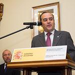 José Julián Gregorio, delegado del Gobierno en Castilla-La Mancha, durante la toma de Posesión de Aquilino Iniesta como Subdelegado del Gobierno en Albacete