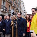 El presidente del Partido Popular de Castilla-La Mancha, Paco Nuñez, asiste la concentración celebrada en Madrid bajo el lema 'Por una España unida. Elecciones ya'