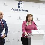 La consejera de Economía, Empresas y Empleo, Patricia Franco, valora, en la sede de la Consejería, los datos del paro relativos al mes de diciembre. (Fotos: José Ramón Márquez // JCCM)