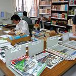 El personal recluso es uno de los habituales en los estudios de la UNED. Foto: Biblioteca en un centro penitenciario.