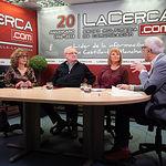 María Eulalia García Blázquez, vocal de la AA.VV. Barrio Villacerrada-Centro, Emilio Iglesias Frias, tesorero de la AA.VV. Barrio Villacerrada-Centro, Lorena Peralta Bueno, presidenta de la AA.VV. Barrio Villacerrada-Centro y Manuel Lozano Serna, director del Grupo Multimedia de Comunicación La Cerca