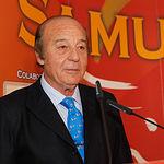 Samuel Flores, ganadero y presidente de Honor del jurado de los Premios Taurinos Samueles, en la Gala de Entrega de los X Premios Taurinos Samueles, pertenecientes a la Feria Taurina de Albacete 2015