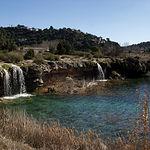 Lagunas de Ruidera, entre las provincias de Ciudad Real y Albacete.